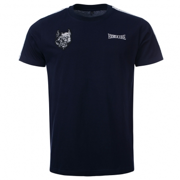100% Hardcore T Shirt Branded Blue