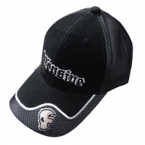 Black Offensive cap - grey logo and skull