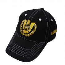 Hardcore Gladiators black cap gold stitched