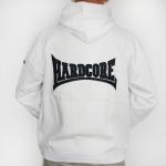 Hardcore Hooded stitched - white