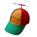 Propeller cap rood geel groen