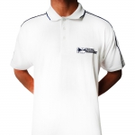 White Traxtorm Polo - Badge logo st.