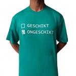 GESCHIKT / ONGESCHIKT Shortsleeve seagreen