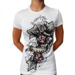 White Sullen cross girl shortsleeve