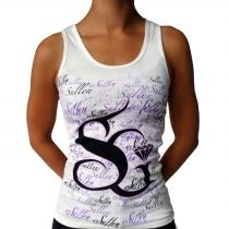White Sullen squiggles girl shirt