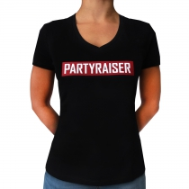 Partyraiser Lady V-Neck T-shirt