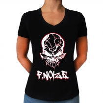 F.Noize Damen T-Shirt mit V-Ausschnitt 'Graffiti'