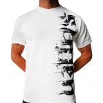 Sullen Distress-White Short Sleeve -L