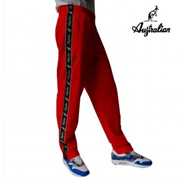 Australian pants triacetaat Red/B