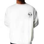 White Rotterdam Terror Corps Sweater. Stitched on front