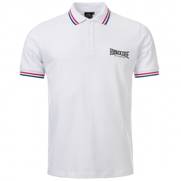100% HARDCORE POLO THE BRAND WHITE