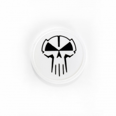 RTC plastic coin white with black logo
