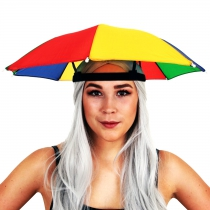 Chapeau parapluie multicolore