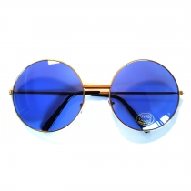 70's sunglasses - blue glass big glass