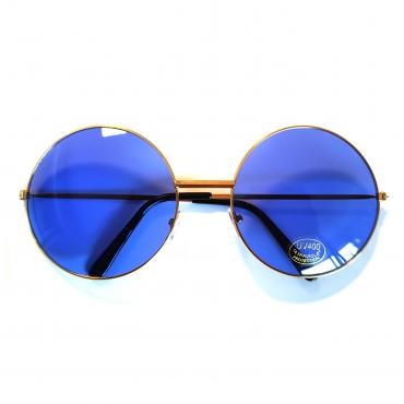 70's sunglasses - blue glass big glass