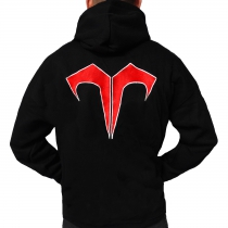 Evil Activities Hooded Sticthed Black