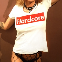 Supreme Hardcore lady T-Shirt White