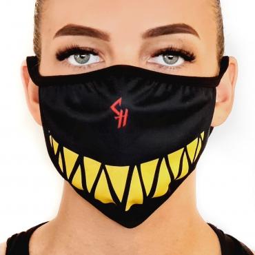 Chaotic Hostility mask black yellow