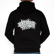 The Vizitor Too loud is just right Hooded Zipper