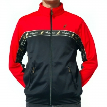 Australian duo jacket bright red black tape