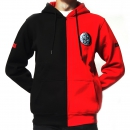 DRS Black red half hooded with zipper