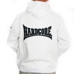 Hardcore Hooded stitched - white