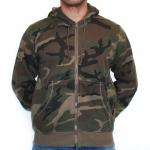 Army Hooded Zipper Woodland