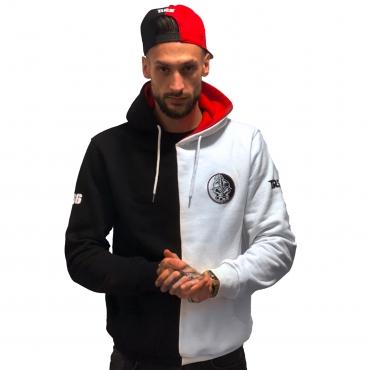 DRS Black white half hooded
