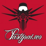 Partyraiser sticker Red