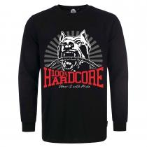 100% Hardcore T Shirt long sleeve dog