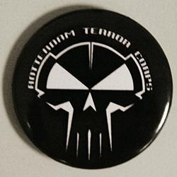 Black RTC button - white printed
