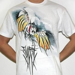 White Sullen Bat skies shortsleeve