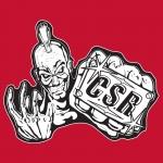 CSR box sticker red