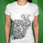 White Sullen Visceral lady shirt