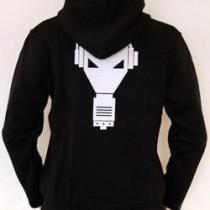 Enzyme Hooded zipper black