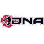 DNA Sticker White / Red Big