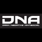 DNA 'dark negative..' sticker - 7 x 18,5