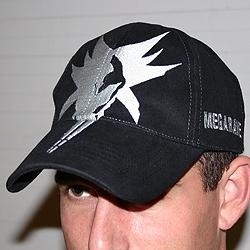 Black Megarave 'all over' cap - stitched