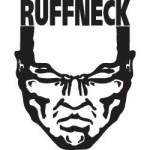 Ruffneck sticker white - 10,5 x 13