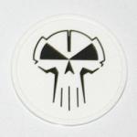RTC plastic coin white with black logo
