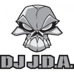 Dj JDA sticker - 13 x 14,5
