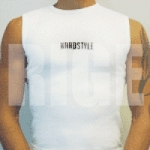 White Hardstyle Sleeveless shirt - one size fits all