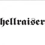 Hellraiser sticker white - 22 x 6cm