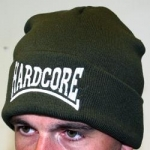 Hardcore Knitted Hat Stitched Olive