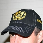 Hardcore Gladiators black cap gold stitched