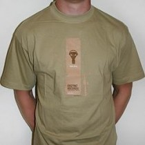 Khaki T-shirt from Enzyme Records