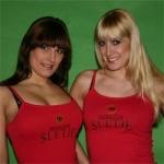 Red 'Breezah Slet' spaghetti top